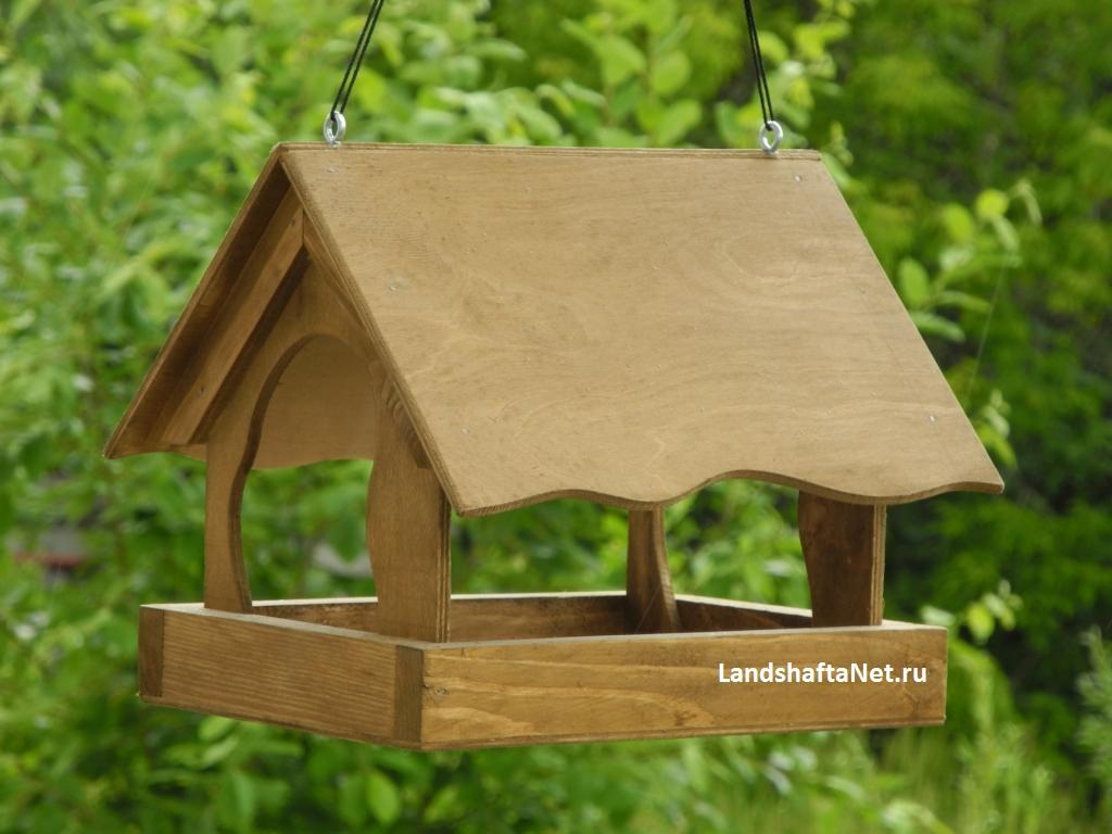 Сделать кормушку для птиц из дерева своими руками