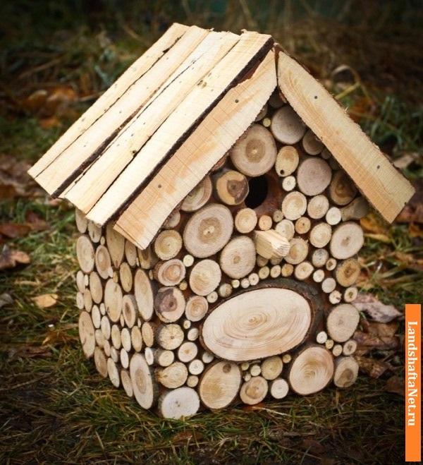 Как сделать скворечник из дерева красивый